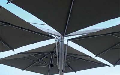 100-serien: Sidohängt parasoll för uteservering och uteplats