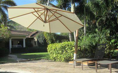 A93-serien: Sidohängt parasoll för uteservering och uteplats