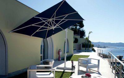 B76-serien: Sidohängt parasoll för uteservering och uteplats