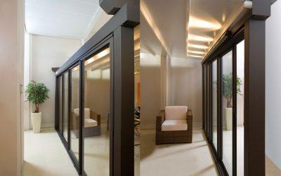 L500: Sidskjutbara glasväggar