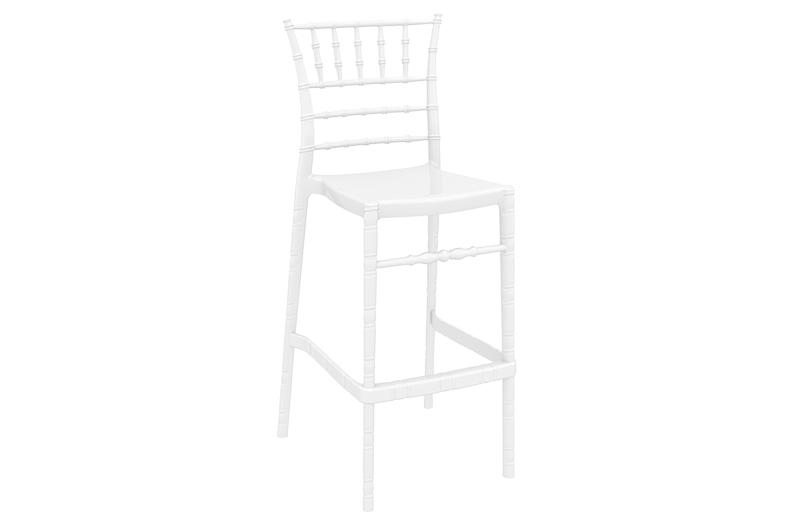 barstol 1083 vit högblank