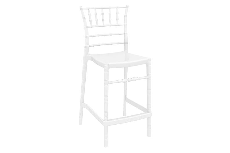barstol 1084 vit högblank